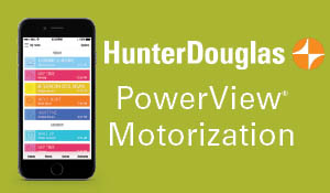 Hunter Douglas PowerView® Motorization moves your shades so you don't have to!
